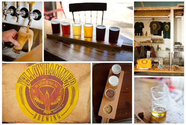Shots from Yellowhammer Brewing in Huntsville, Alabama.