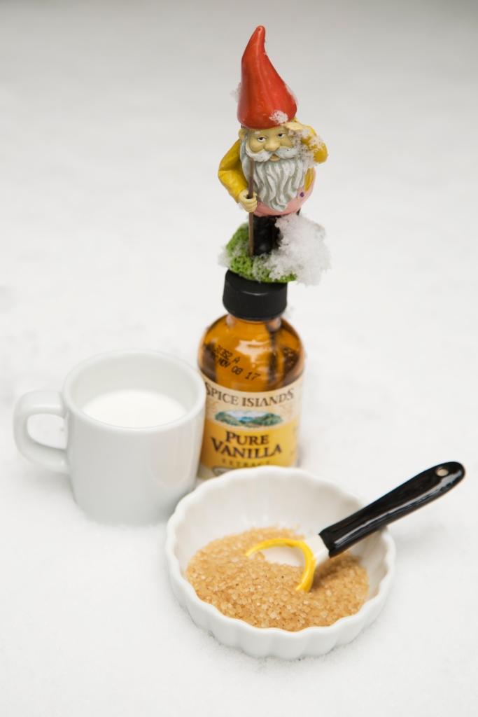 Snow Cream Ingredients: Snow, Cream, Sugar and Vanilla Extract