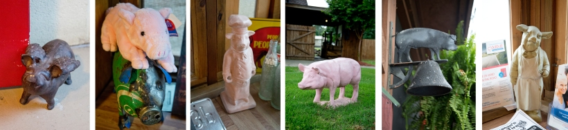 Here are a FEW of the pigs. I am sure there are countless others I missed or just didn't get a photo of.